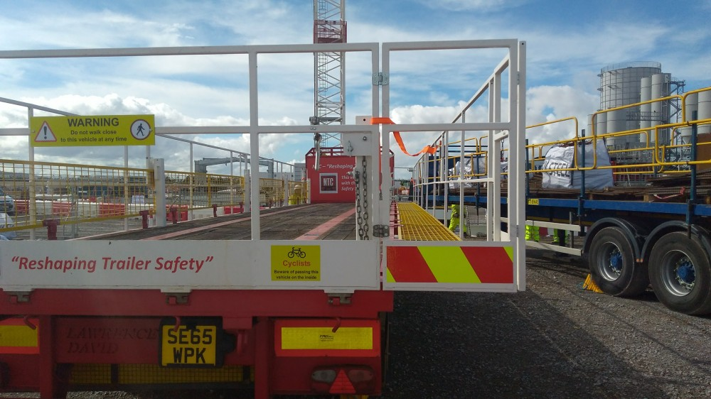 NTC Flatbed Safety Trailer visits Hinkley Point