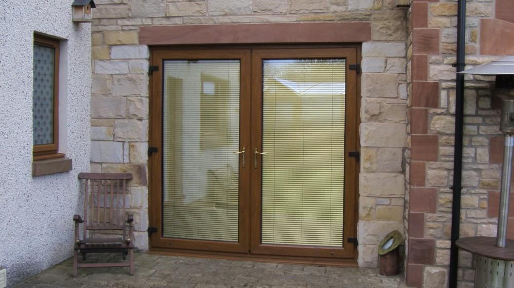 French Doors PVC light oak