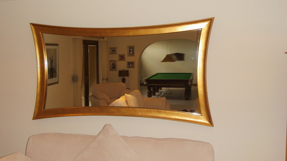 Curved Framed Mirror