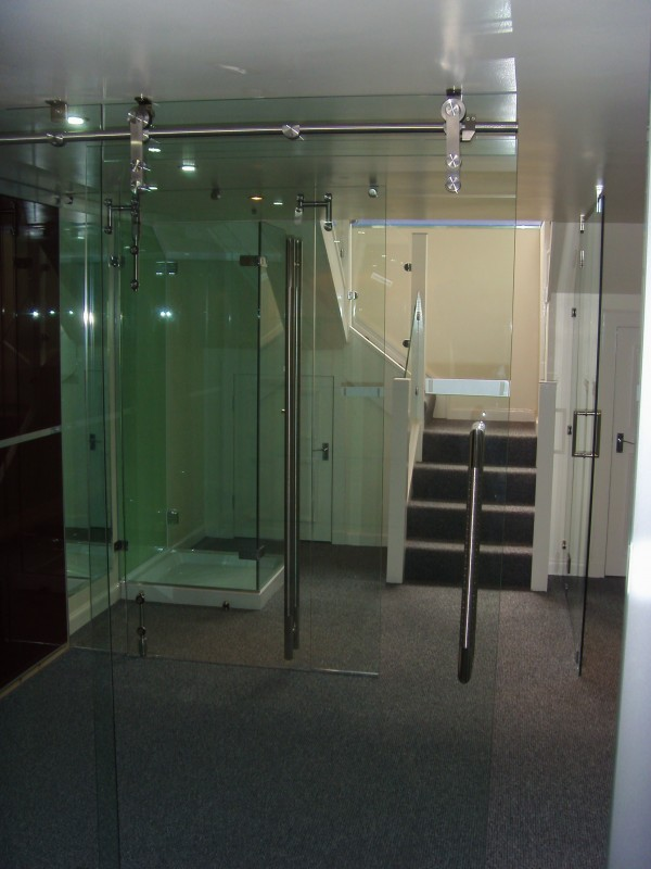 High Tech Glass Door Showroom