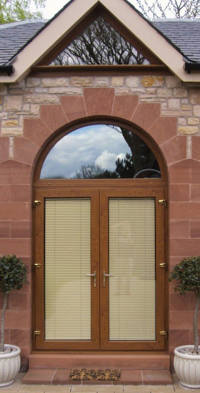 French Doors PVC with arched fanlight