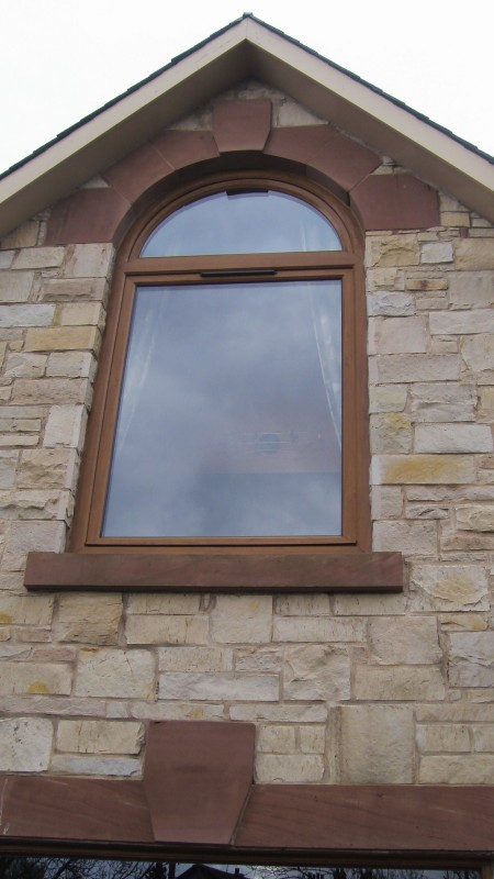 Arched Tilt and Turn PVC window