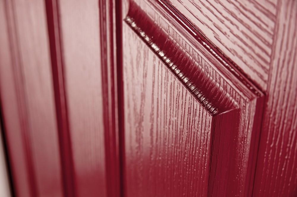 Red Composite Door close up
