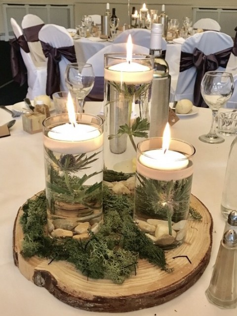 Candle centrepiece ideas