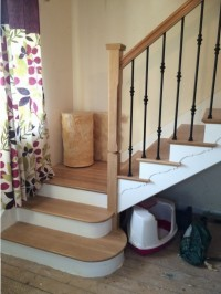 STAIRCASE TO NEW LOFT CONVERSION BLACKPOOL