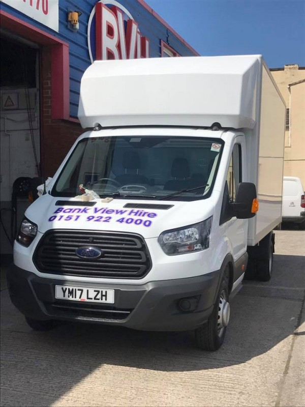 New Ford Transit Luton's arriving at Bank View Hire