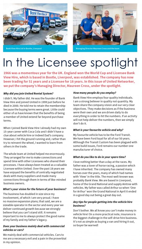 In the Licensee spotlight