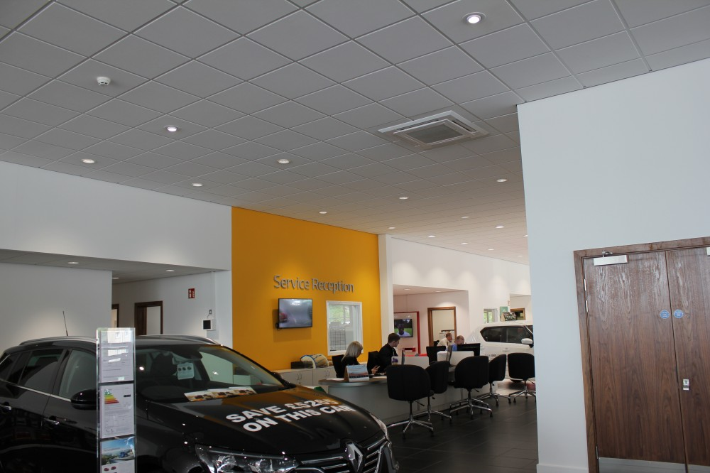 Renault Parks of Hamilton, Suspended Ceiling & Fire Blanket