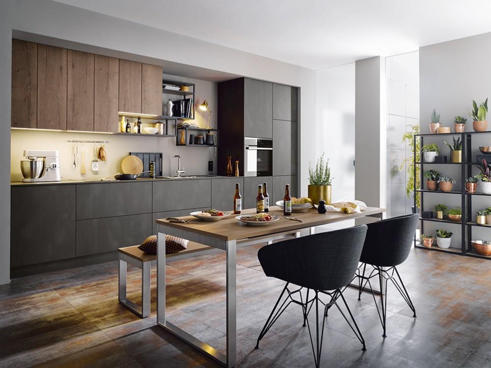 Wood edging kitchen