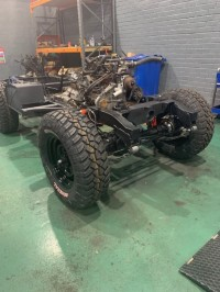 1976 Series Land Rover in progress - Chassis is now done