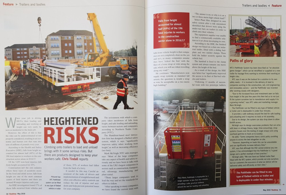 Roadway Magazine - NTC Safety System Editorial